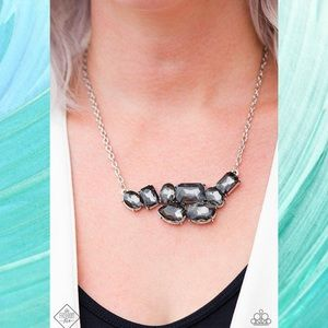 Urban Dynasty Smoky Rhinestone Necklace Set